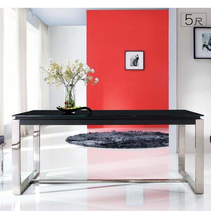 【UHO】 雷納德5尺玻璃餐桌 免運 HO18-625-3