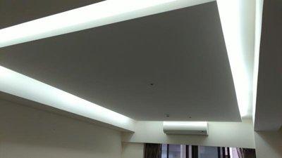 台中彰投雲嘉木工平釘木工天花板 造型層次 間接照明 木工木作裝潢 日本矽酸鈣板