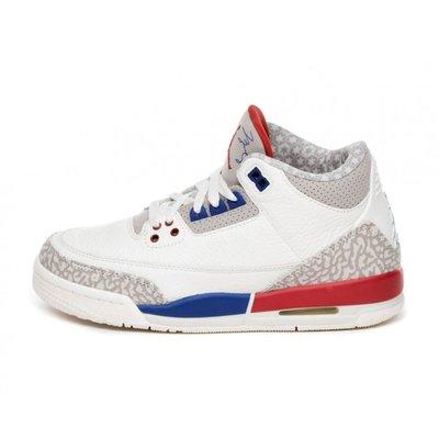 R'代購公司貨 Nike Air Jordan 3 Retro OG GS 白紅藍 398614-140 女籃球鞋