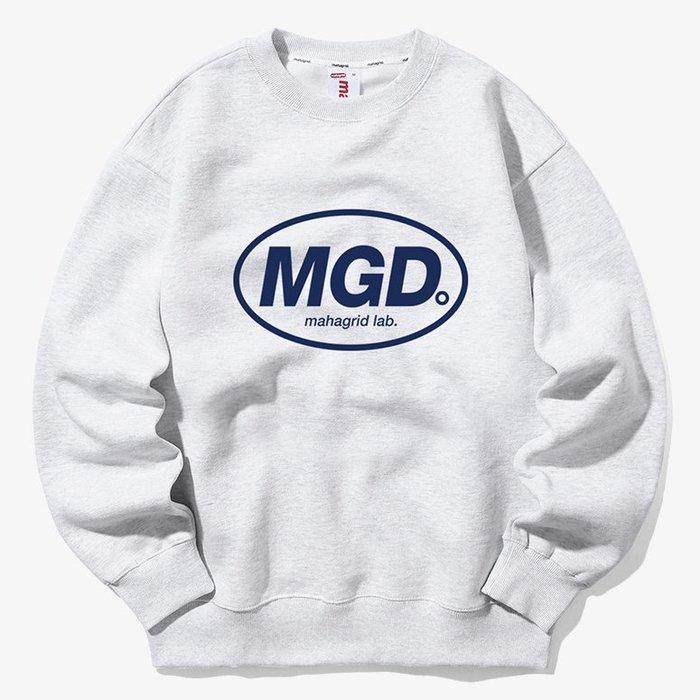 【QUEST】MAHAGRID - MGD CREWNECK 橢圓LOGO大學T  灰