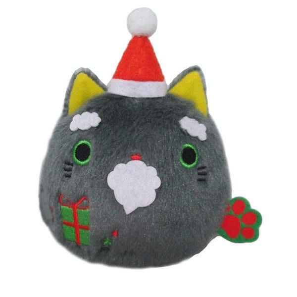 【聖誕沙包貓娃娃】貓沙包 沙包貓  娃娃 聖誕節 限定 日本正版 該該貝比日本精品 ☆