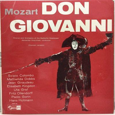 黑膠唱片 英版歌劇-Concert Hall/莫札特:唐·喬望尼/亞歷山大-巴登歌劇院合唱團和管弦樂團