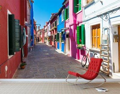 客製化壁貼 店面保障 編號F-524 彩色房屋 壁紙 牆貼 牆紙 壁畫 星瑞 shing ruei