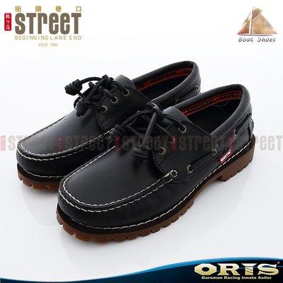 ~街頭巷口 Street~ORIS 男款雷根式帆船鞋 ~ 黑色 934A01~734A01