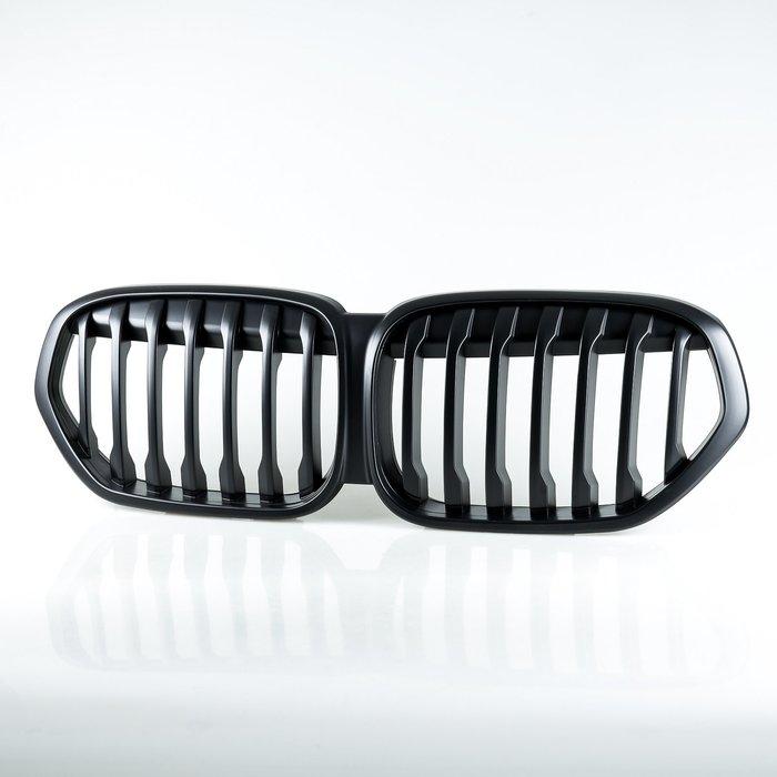 [消光黑] LCI SPORT樣式 ABS水箱罩前格柵鼻頭 寶馬BMW X1 F48 2019-2020年適用
