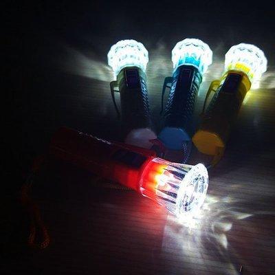 【贈品禮品】A4056 彩色魚眼LED手電筒(小)/LED燈/夾帽燈/帽沿燈/夜釣夜遊/隨身手電筒/手電筒吊飾/禮品贈品