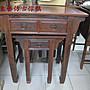 東藝仿古傢俱~ ~ ~ 雞翅木三尺半方腳拉板神桌1...