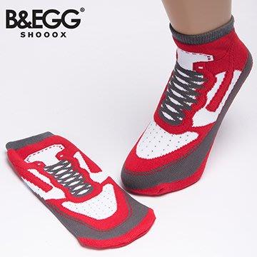 『現貨』24HR出貨 男襪 女襪 B&EGG鞋型襪 On Fire紅色球鞋襪