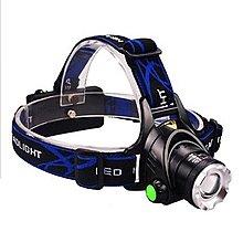 強光頭燈 伸縮變焦  XM-L2 LED 燈泡 頭燈 自行車燈 配USB充電線