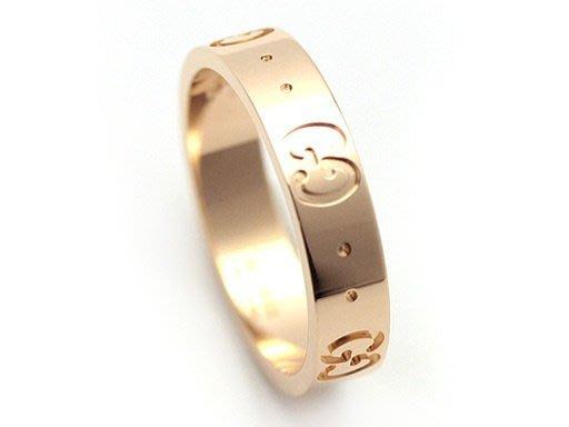 【JHT金宏總珠寶/GIA鑽石專賣】原裝GUCCI 戒指(細版) 正版真品 玫瑰金  #7  750