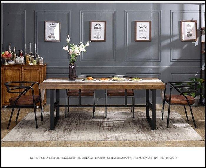 美式工業風 黑色圓背鐵管皮格椅墊餐椅 電腦椅書桌椅休閒椅化妝椅飯桌椅可搭1桌2椅公園椅客人椅【歐舍家飾】