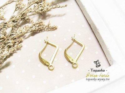 串珠材料˙耳環配件 黃銅法式D字耳勾扣(帶耳)5對10P【F7502】18mm飾品手作DIY《晶格格的多寶格》