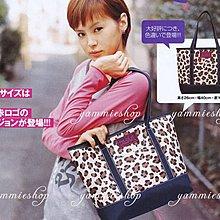 【全場五件免運】日本X-GIRL EMOOK 25週年限定 棕色豹紋 休閒肩包/大提袋/托特包 可放A4(XBJ1)