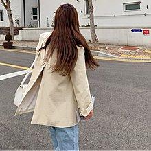 i-Mini 韓國連線~背後高開岔設計2釦西裝外套‧ 正韓代購‧空運【B02055743mb】