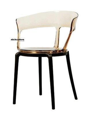 尼克卡樂斯 ~ 輕奢華透明水晶質感餐椅...