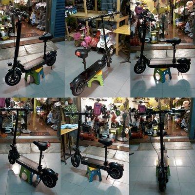10吋-微型電動折疊滑板車【36V-500W無刷電機&36V-10AH鋰鐵電池】動力強、瓦數足、續航高……