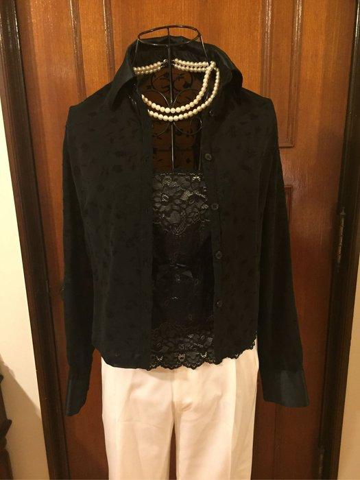Party 首選 - 黑色透明蕾絲性感設計 - 長袖襯衫