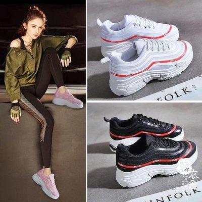 運動鞋 - 小白鞋的鞋百搭運動鞋透氣厚底鞋女