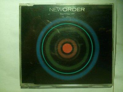 New Order Blue Monday 1988 新秩序 的 憂鬱星期一 單曲CD 1988年版,放在塑膠套沒在聽