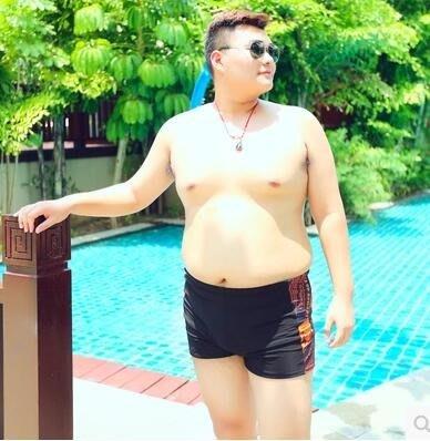 男士寬鬆舒適溫泉沙灘加大碼平角泳褲PLL3177