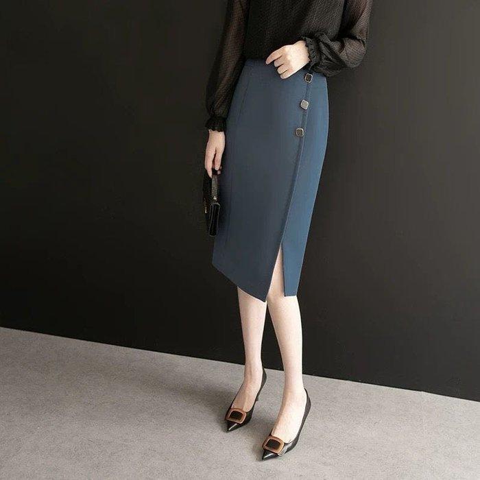 超氣質修飾身形包臀迷你裙開叉及膝裙