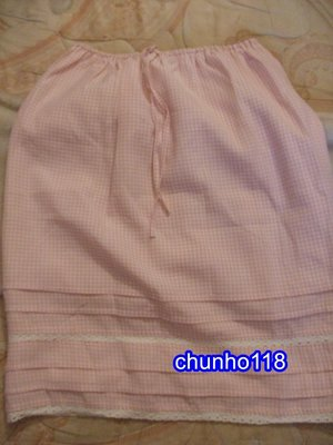 ~二手裙出清~SINGLE NOBLE(L,AMITIE) 獨身貴族 粉紅色格紋短裙[夏,秋冬季] *** M(女)