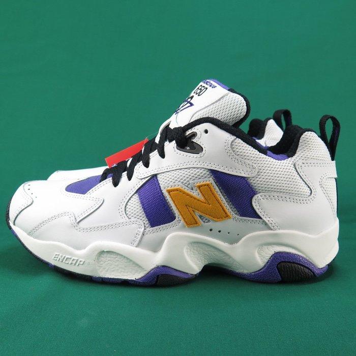 【iSport愛運動】韓國代購NB CLASSIC 休閒鞋全新正品 ML650WNW男  白X深紫x明黃
