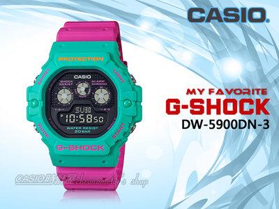 CASIO 時計屋 卡西歐手錶 DW-5900DN-3 G-SHOCK 三眼設計 EL冷光照明 防水200米 耐衝擊構造