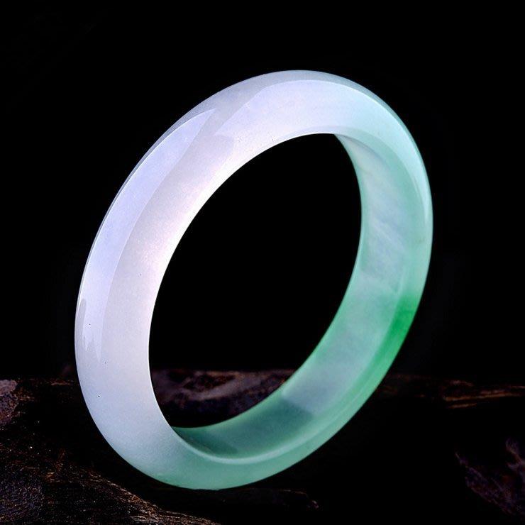 【福寶堂】純天然冰種翠綠色玉手鐲女款正品淺綠翡翠色玉鐲子玉器首飾