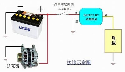 DC12V/24V 汽車機車引擎發電機充電自動偵測模組 Detect 13.5V/27.0V 全防水