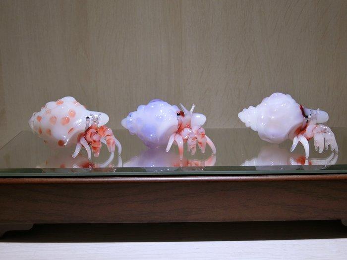 【藝晶香琉璃藝術工坊】手工琉璃可愛寄居蟹、家居、擺飾
