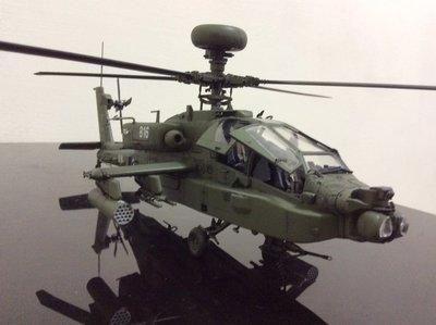漢光演習阿帕契 臺灣陸軍最強攻擊直升機AH64E阿帕契 比例1/48全新完工