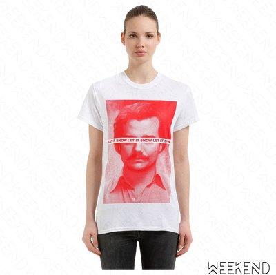 【WEEKEND】 TABOO Pablo 印圖 短袖 T恤 上衣 白色 男女同款