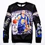 NBA 2015 冠軍 球隊 球星 勇士隊 Stephen Curry 30號 3D 印花 人像 圓領 長袖 預購 免運