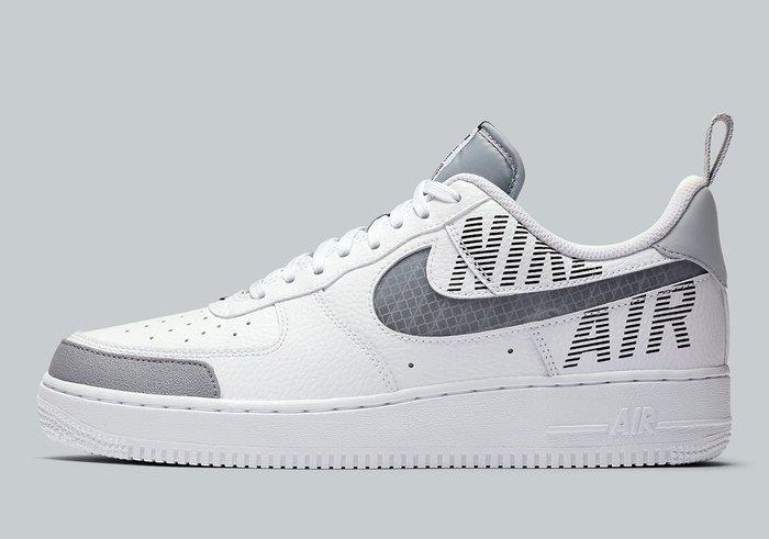 南◇2019 11月 Nike Air Force 1 Low Bq4421-100 反光 AF1 全白灰色 白色 皮革