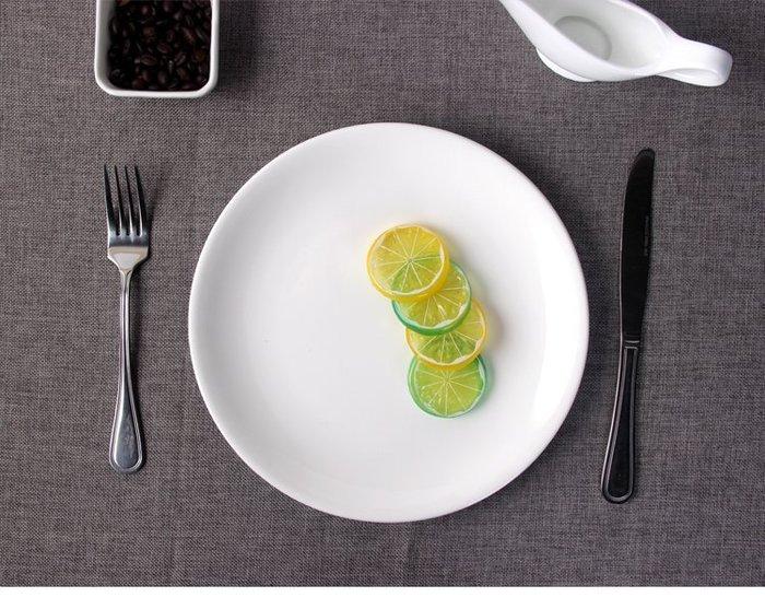 【無敵餐具】強化骨磁圓平盤/淺盤/點心盤/蛋糕盤(25cm10寸盤)量多歡迎詢價可來電洽詢享優惠價喔【A0348】