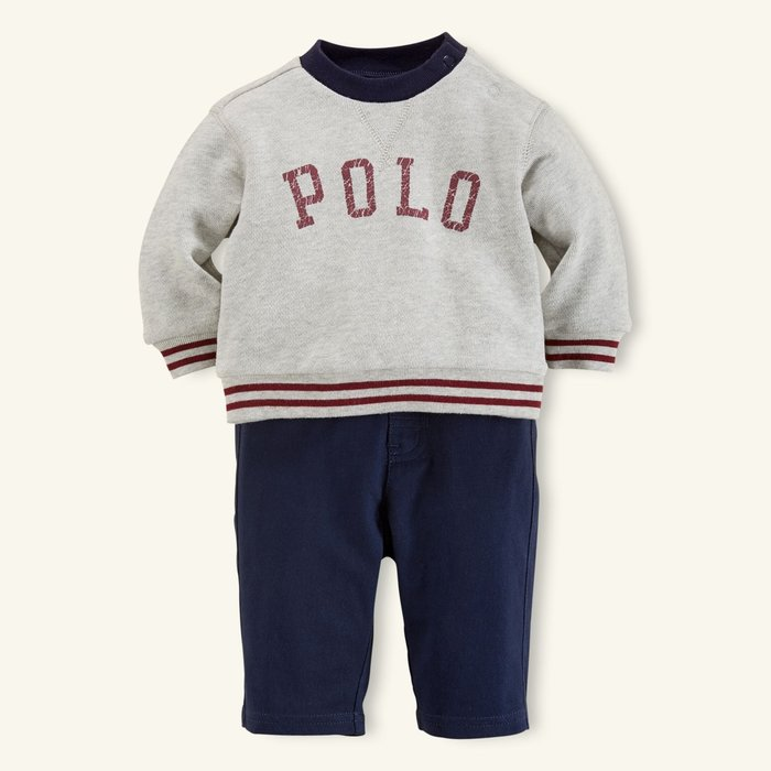 *小豆仔的屋Dou Dou House*美國Ralph Lauren童裝/POLO圓領上衣加長褲(兩件組)