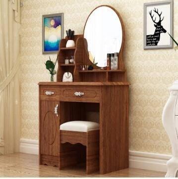 梳妝台 梳妝台歐式小戶型化妝桌雙抽屜臥室多功能迷你化妝台帶凳子新款sys