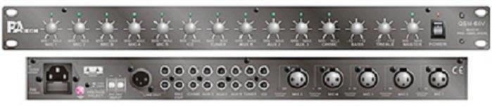【昌明視聽】PA TECH  QSM-60V 前級混音擴大器 適用於公共場合、大型賣場、學校、村里長廣播、寺廟教會