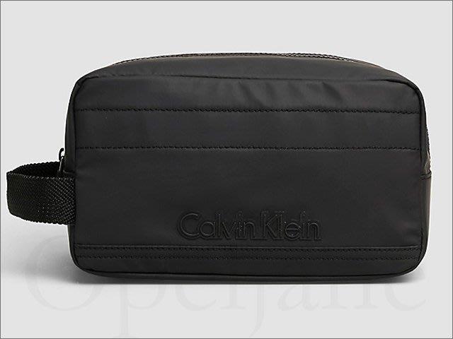 真品 CK Calvin Klein卡文克萊男用黑色尼龍外出包手拿包 化妝包 旅遊盥洗用品包 附防塵袋 愛Coach包包