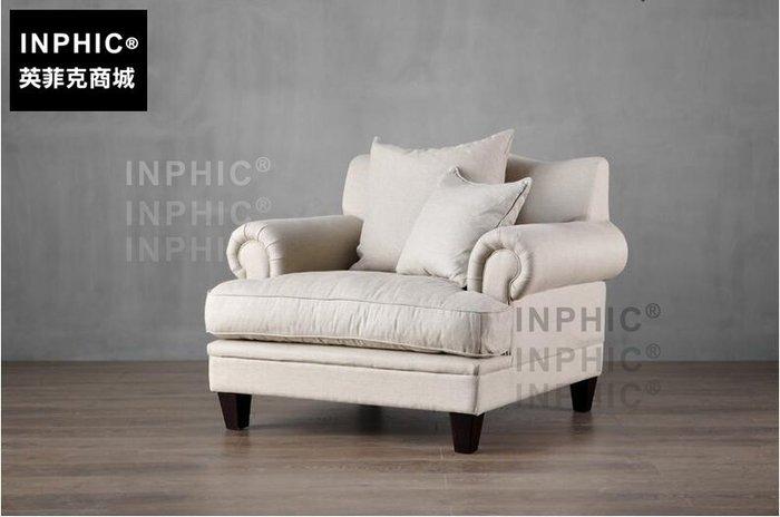 INPHIC-美式歐式沙發組合 北歐單雙休閒亞麻布藝沙發 羽絨_S1910C