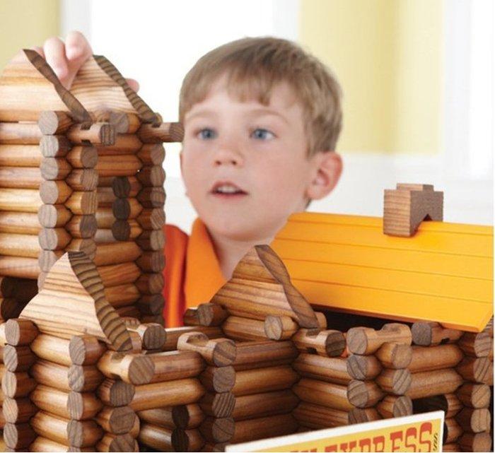 【好孩子福利社】森林小木屋套裝 木製林肯房 兒童創意益智積木 建築拼搭玩具165pcs