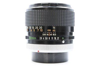 佳能 CANON LENS FD 100mm F2.8 S.S.C. 中距 人像鏡頭 品項良好 轉接 (三個月保固期)