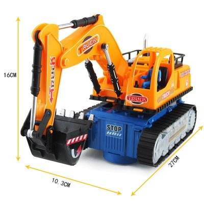 現貨/兒童電動挖掘機玩具男孩閃光音樂玩具車電動萬向工程車挖土機模型174SP5RL/ 最低促銷價
