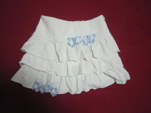 Nicholas & Bears 貴族風小花千層蛋糕短裙 共兩色-白 3Y 類jacadi 1/2 polo
