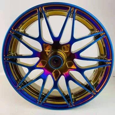 『台灣現貨』燒鈦合金 Y款 輪圈 12吋前輪鋼圈 電動車  戰狼 X戰警 獨角獸 改裝 零件