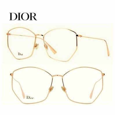 DIOR  ► ( 金屬金色框 )多邊型復古大方框型  眼鏡 光學鏡框 中性款|100%全新正品|特價!