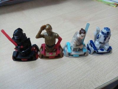 Kinder 出奇蛋 Star Wars 星球大戰 玩具4隻
