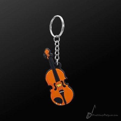 香港 Musician Designer 小提琴 Violin 情侶 吊飾 鑰匙圈 墜飾 樂器 禮物 【茗詮樂器】
