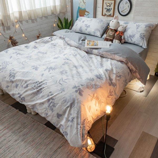 【棉床本舖】S2單人床包雙人薄被套三件組 碳化森林 100%精梳棉 台灣製 住宿生愛用款   pc